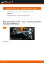 PDF priročnik za zamenjavo: Zracni filter AUDI A4 Sedan (8D2, B5)