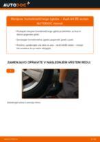Kako zamenjati avtodel homokinetični zglob na avtu Audi A4 B5 sedan – vodnik menjave