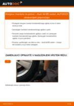 Kako zamenjati avtodel manšeta polosovine na avtu Audi A4 B5 sedan – vodnik menjave