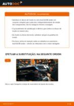 Como mudar discos de travão da parte dianteira em Audi A4 B5 sedan - guia de substituição