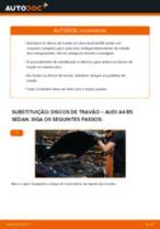 Como mudar discos de travão da parte traseira em Audi A4 B5 sedan - guia de substituição