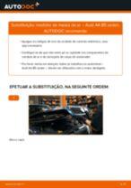 Como mudar medidor de massa de ar em Audi A4 B5 sedan - guia de substituição