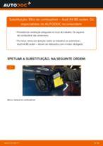 Como mudar filtro de combustível em Audi A4 B5 sedan - guia de substituição
