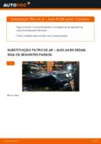 Como mudar filtro de ar em Audi A4 B5 sedan - guia de substituição