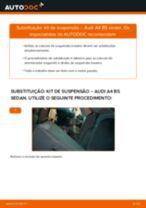 Como mudar kit de suspensão da parte traseira em Audi A4 B5 sedan - guia de substituição