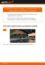 Como mudar pinças de travão da parte traseira em Audi A4 B5 sedan - guia de substituição