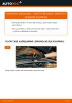 Kuidas vahetada Audi A4 B5 sedaan taga-pidurisadula – õpetus