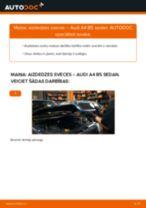 Kā nomainīt un noregulēt Amortizators AUDI A4: pdf ceļvedis