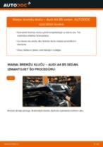 Kā nomainīt: priekšas bremžu klučus Audi A4 B5 sedan - nomaiņas ceļvedis