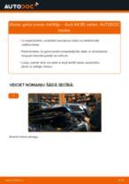 Nomaiņai Ķīļrievu siksna AUDI Audi A4 B7 Sedan 1.9 TDI - remonta instrukcijas