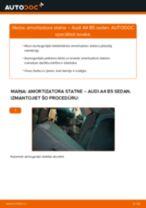 AUDI aizmugurē un priekšā Amortizators nomaiņa dari-to-pats - tiešsaistes instrukcijas pdf