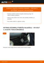 VW gale ir priekyje Stabdžių trinkelių komplektas keitimas pasidaryk pats - internetinės instrukcijos pdf