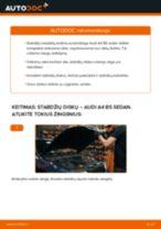 Pakeisti Stabdžių diskas AUDI A4: instrukcija