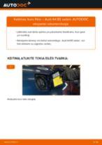 Kaip pakeisti ir sureguliuoti Kuro filtras AUDI A4: pdf pamokomis