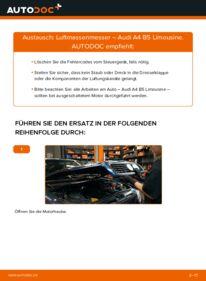 Wie der Wechsel durchführt wird: Luftmassenmesser 1.6 Audi A4 B5 tauschen