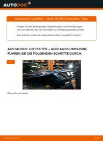 Wie der Wechsel durchführt wird: Luftfilter 1.6 Audi A4 B5 tauschen