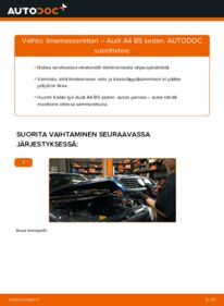 Kuinka vaihtaa Ilmamassamittari 1.6 Audi A4 B5 -autoon
