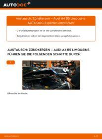 Wie der Wechsel durchführt wird: Zündkerzen 1.6 Audi A4 B5 tauschen