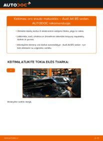 Kaip atlikti keitimą: 1.6 Audi A4 B5 Oro srauto matuoklė