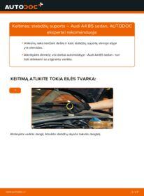 Kaip atlikti keitimą: 1.6 Audi A4 B5 Stabdžių apkaba