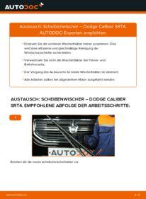 Wie der Wechsel durchführt wird: Scheibenwischer 2.0 CRD Dodge Caliber SRT4 tauschen