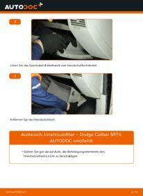 Wie der Wechsel durchführt wird: Innenraumfilter 2.0 CRD Dodge Caliber SRT4 tauschen
