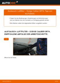 Wie der Wechsel durchführt wird: Luftfilter 2.0 CRD Dodge Caliber SRT4 tauschen