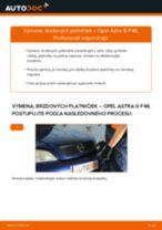 Ako vymeniť zadné brzdové platničky na Opel Astra G F48 – návod na výmenu