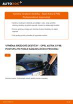 Jak vyměnit zadní brzdové destičky na Opel Astra G F48 – návod k výměně