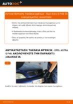 Αντικατάσταση Τακάκια Φρένων πίσω και εμπρος OPEL μόνοι σας - online εγχειρίδια pdf