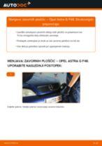 Kako zamenjati avtodel zavorne ploščice zadaj na avtu Opel Astra G F48 – vodnik menjave