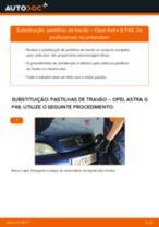 Como mudar pastilhas de travão da parte traseira em Opel Astra G F48 - guia de substituição