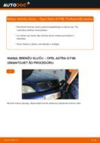 Kā nomainīt: aizmugures bremžu klučus Opel Astra G F48 - nomaiņas ceļvedis