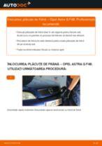 Cum să schimbați: plăcuțe de frână din spate la Opel Astra G F48   Ghid de înlocuire