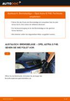 Einbau von Bremssteine beim OPEL ASTRA G Hatchback (F48_, F08_) - Schritt für Schritt Anweisung