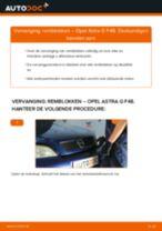 Hoe remblokken achteraan vervangen bij een Opel Astra G F48 – Leidraad voor bij het vervangen