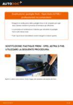 Come cambiare pastiglie freno della parte posteriore su Opel Astra G F48 - Guida alla sostituzione