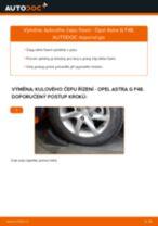 Podrobné PDF tutoriály, jak vyměnit Hlava příčného táhla řízení na autě OPEL ASTRA G Hatchback (F48_, F08_)