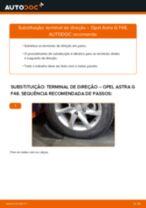 Como mudar terminal de direção em Opel Astra G F48 - guia de substituição