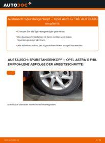 Wie der Wechsel durchführt wird: Spurstangenkopf 1.6 16V (F08, F48) Opel Astra G CC tauschen