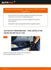 Wie der Ersatz vollführt wird: Bremsbeläge am OPEL ASTRA
