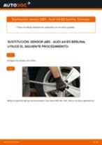 Instrucciones gratuitas en línea sobre cómo renovar Sensor de freno AUDI A4 (8D2, B5)