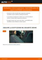 Come cambiare molle di sospensione della parte posteriore su Audi A4 B5 sedan - Guida alla sostituzione