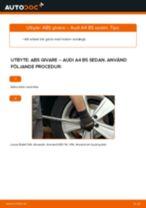 Byta ABS givare fram på Audi A4 B5 sedan – utbytesguide