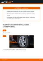 Kuinka vaihtaa koiranluu eteen Opel Astra H sedan-autoon – vaihto-ohje