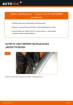 Kuinka vaihtaa lisävilkkuvalo Toyota Yaris P1-autoon – vaihto-ohje