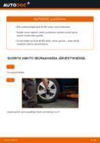 Kuinka vaihtaa pyöränlaakerit taakse Audi A4 B5 sedan-autoon – vaihto-ohje