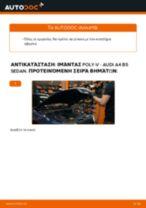 Πώς να αλλάξετε ιμάντας poly-V σε Audi A4 B5 sedan - Οδηγίες αντικατάστασης