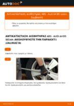 Αλλαγη Σύστημα ελέγχου δυναμικής κίνησης: pdf οδηγίες για AUDI A4