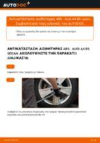 Δωρεάν οδηγίες για Σύστημα ελέγχου δυναμικής κίνησης AUDI A4 (8D2, B5) αλλάξετε